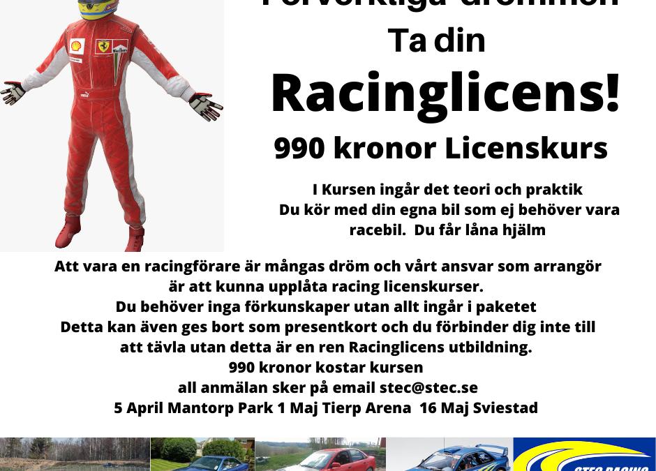 STEC Blogg # 3  Racing Licens , Facebook Bild , Mail strul , Ny samverkanspartner