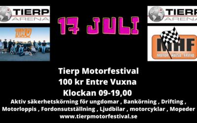Bloggen 5 Juli Motorfestival , Biljetter , Visa upp ert team , Nya Tröjor